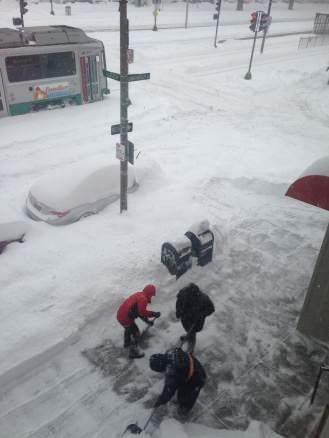 buried cars in Boston