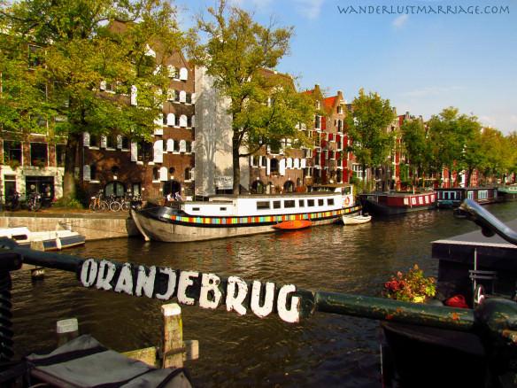 Amsterdam canal - on the Oranjebrug