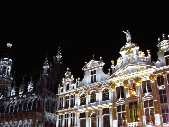 The gorgeous guild houses of Brussels' majestic Grand Place.