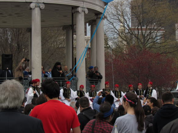 Greek evzones, Boston Common