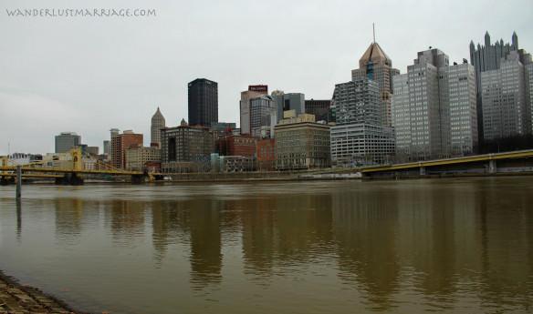 Downtown Pittsburgh, 10 year wedding anniversary