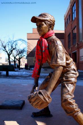 Statue of a little leaguer in Willamsport
