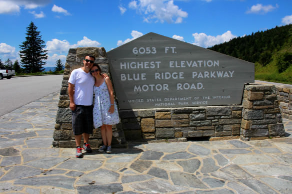 Blue Ridge Mountain Highest Elevation Sign
