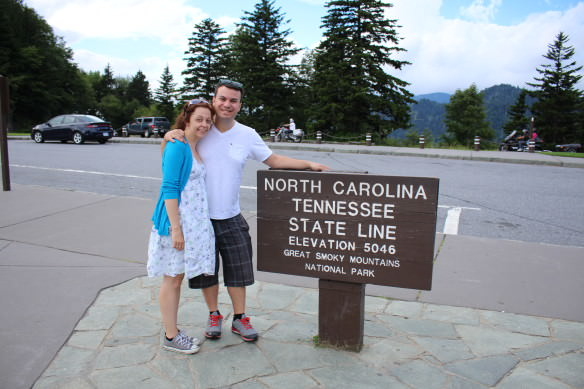 North Carolina Tennessee state line, Great Smoky Mountain National Park