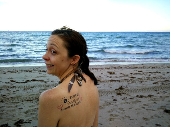 Hollywood Beach Tattoo Girl
