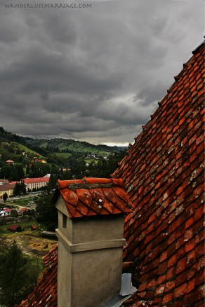 Bran, Romania, view from Bran Castle, Transylvania