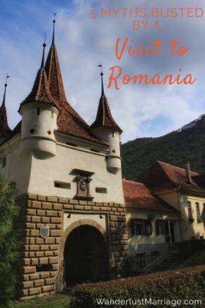Castle pin for Romania