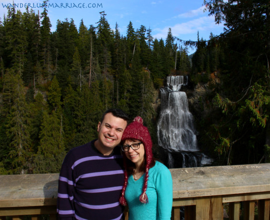 Alexander waterfall in British Columbia