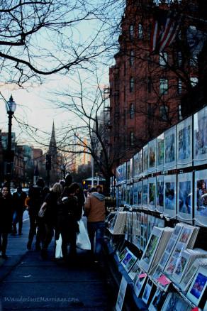 Art On Newbury St. in Boston