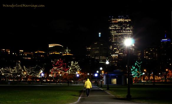 Boston Common Christmas Lights