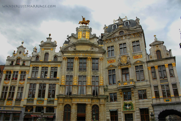 guild houses of the Groke Market, Brussels