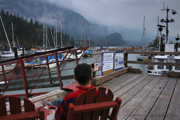 Alex at the boat dock in Squamish