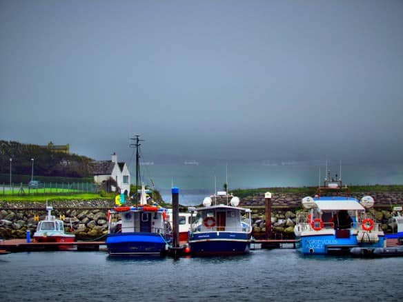 Dingle with boats in the bay