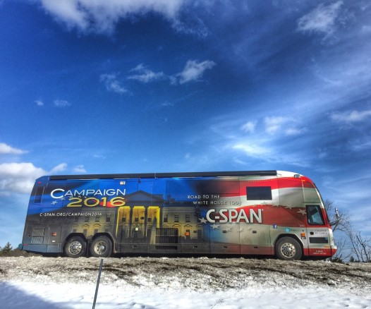 CSPAN Bus in New Hampshire
