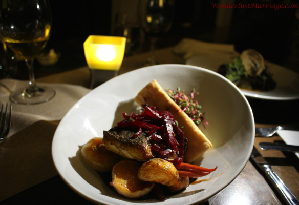 Bistro a Champlain dinner, anniversary at Esterel Resort