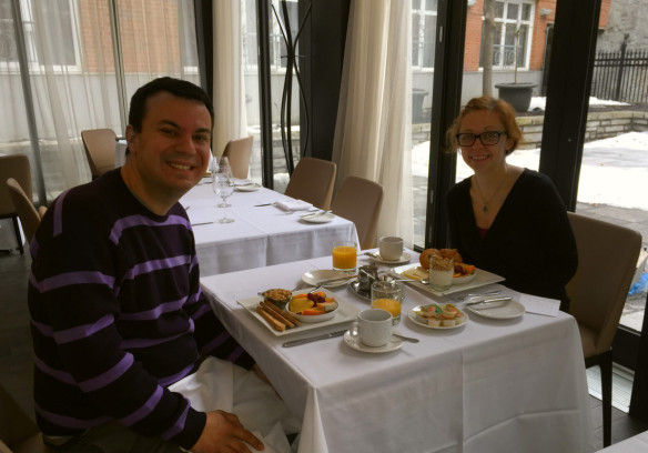 Le St. Sulpice breakfast at Sinclair Restaurant, Romantic Getaway Montreal