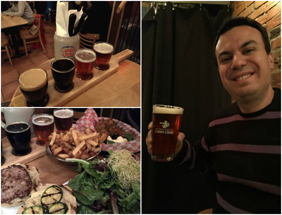 Montreal microbrews and food at gastropub L' Amere a Boire, tips for visiting Montreal
