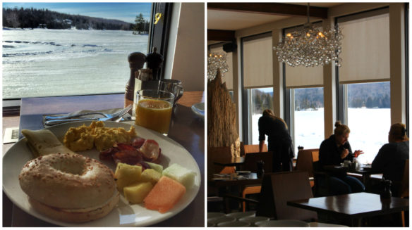 Esterel Resort breakfast, Lake Dupuis, Quebec