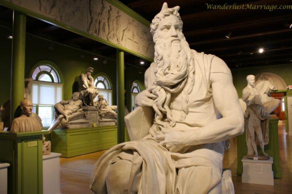 Sculptures at Springfield Musuems