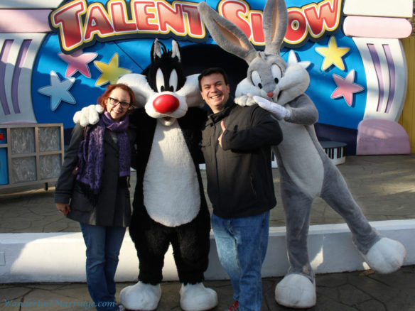 Sylvester and Bugs Bunny, Six Flags Flags New England, Western Massachusetts