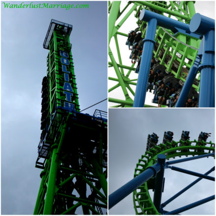 Goliath Rollercoaster Six Flags New England