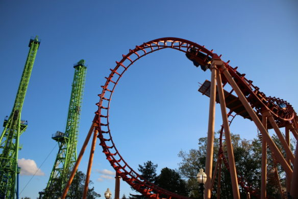 Six Flags New England roller coasters