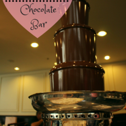 Chocolate fountain, Langham Boston, all you can eat chocolate bar