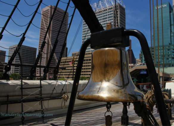 USS Constellation - Baltimore skyline