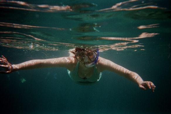Bell snorkeling in Roatan