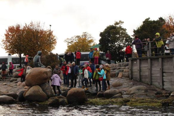 The Little Mermaid statue, Copenhagen, canal boat tour