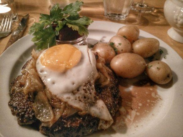 Hakkebof, traditional Danish minced beef dish