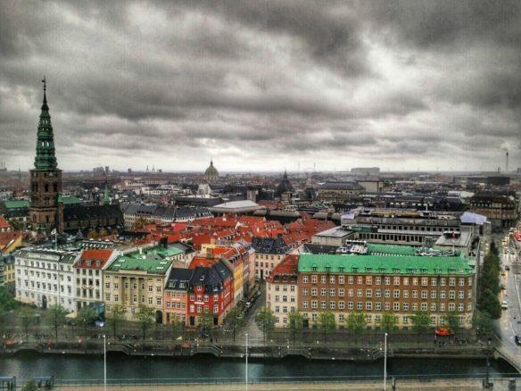 View of Copenhagen from Christiansborg Palace (Danish Parliament)
