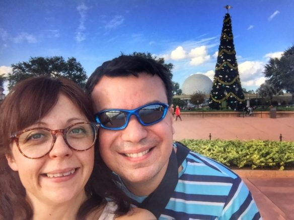 Epcot Ball at Christmas, Orlando