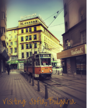 Tram or street car in Sofia