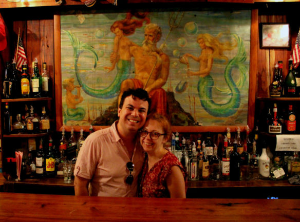 Cedar Key, Island Hotel, King Neptune painting