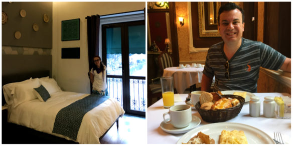 Room and breakfast at the Casa Rosa Gran Hotel Boutique