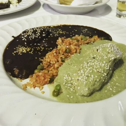close up of mole over chicken