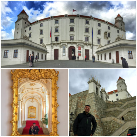 Alex and Bell at Bratislava Castle,