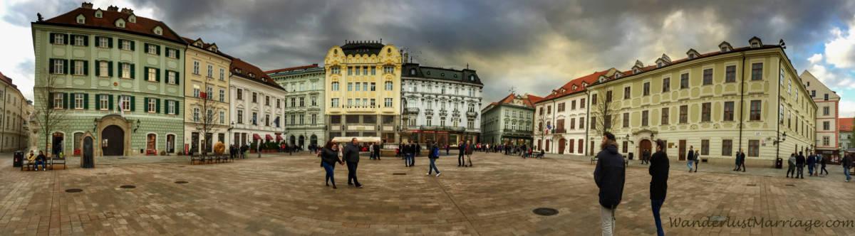Bratislava, Slovenia: town square