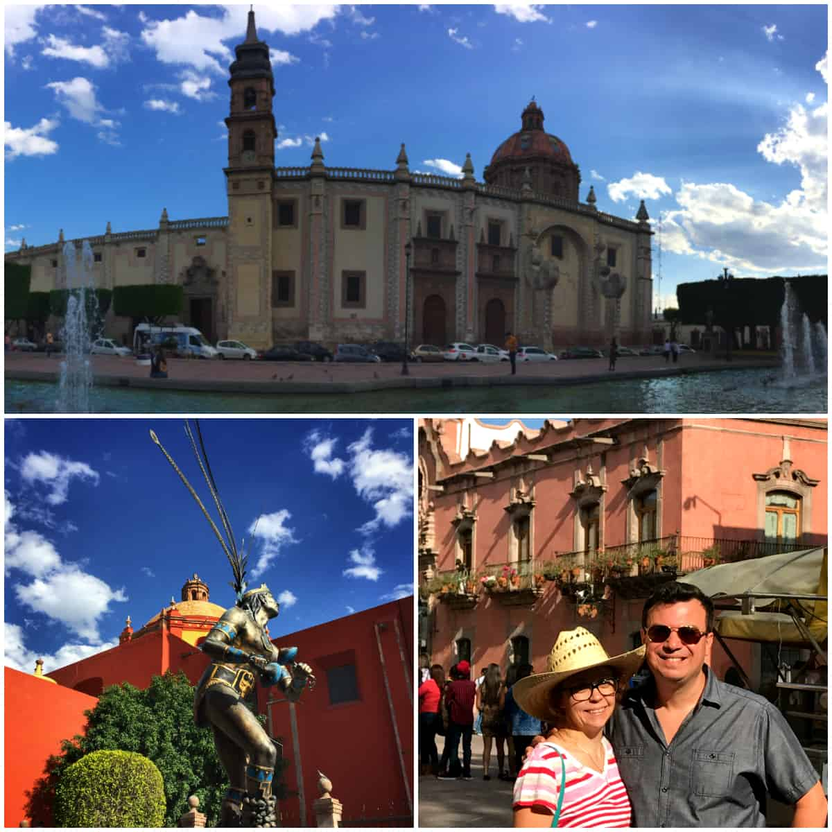 Collage of architecture in Queretaro