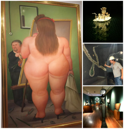 Different museums in Bogota like the Botero Museum, Gold Museum and Emerald Museum