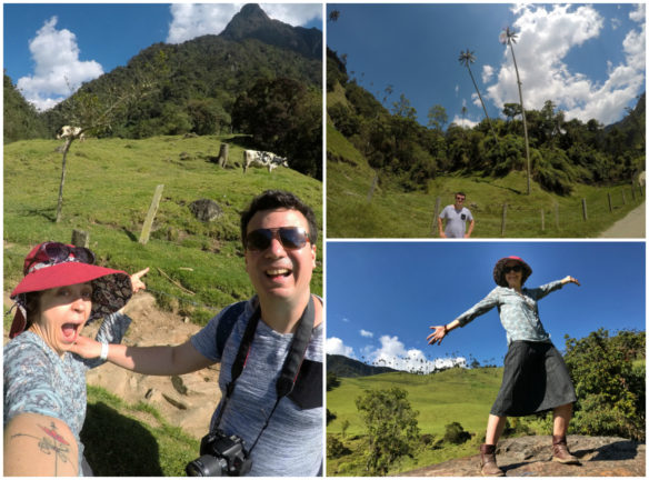 Collage of Alex and Bell hiking in the Cocora Valley