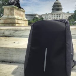 anti-theft backpack with USB port
