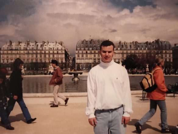 Alex in Paris looking stiff in 1998