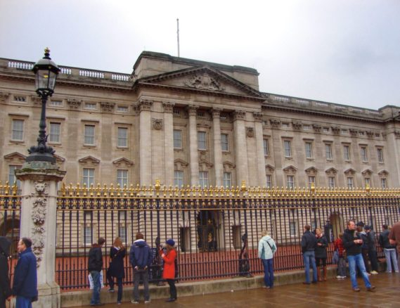 Front gates of Buckingham Palace, London