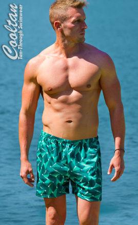 Tan Through men's swimwear