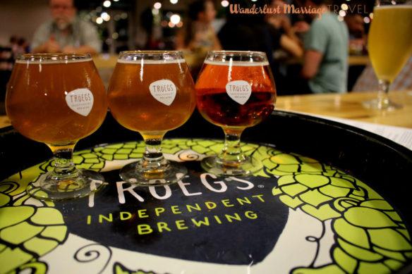 Beer tasting at Troegs Brewing in Hershey, Pennsylvania