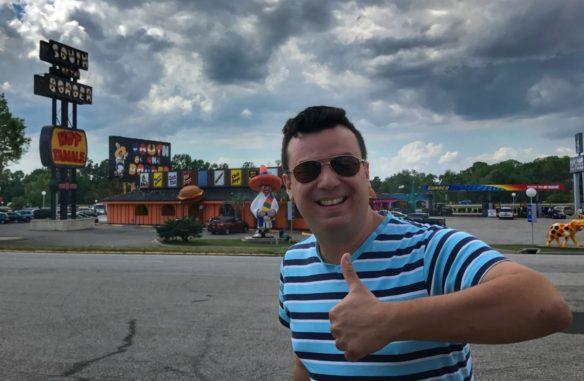 Alex posing at South of the Border in Dillon, South Carolina