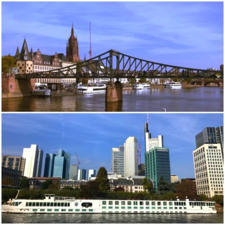 Frankfurt am Main cruise with Frabkfurt skyline