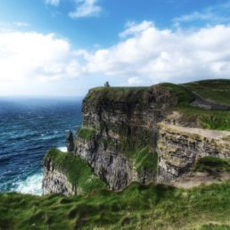 Landscape of the cliffs with the ocean, Ireland travel tips